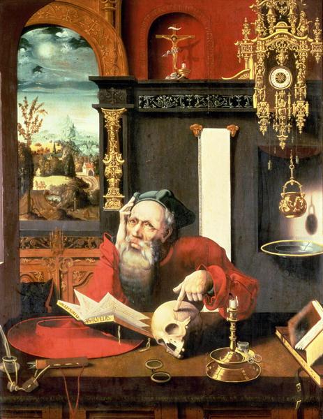 St-Jerome-in-his-Study-xx-Pieter-Coecke-van-Aelst