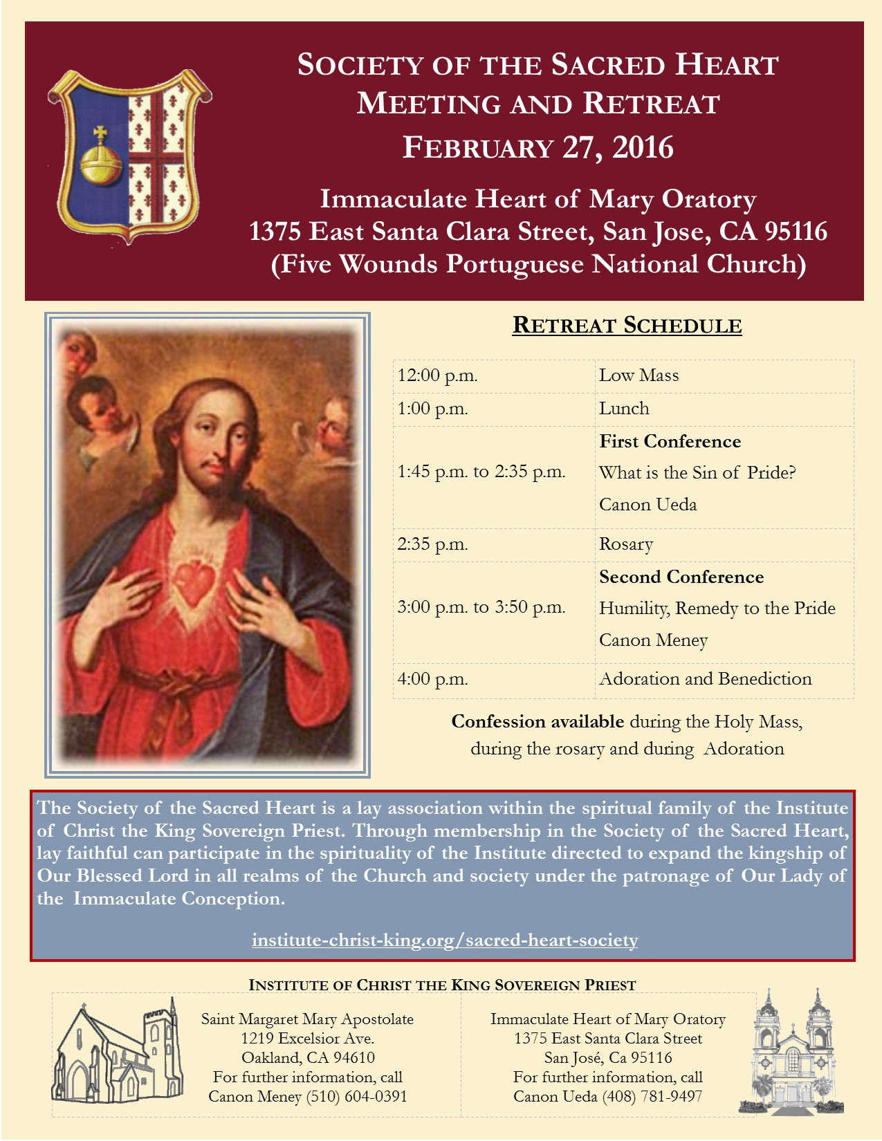 San Francisco Bay Area Society of the Sacred Heart Meeting and Retreat